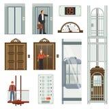 Grupo do ícone do elevador ilustração royalty free