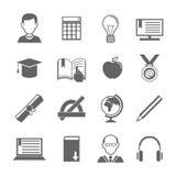 Grupo do ícone do ensino eletrónico Fotografia de Stock Royalty Free