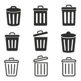 Grupo do ícone do escaninho Imagens de Stock