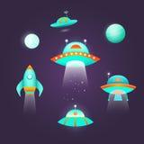 Grupo do ícone do espaço Fotos de Stock