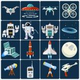 Grupo do ícone do espaço Imagem de Stock Royalty Free