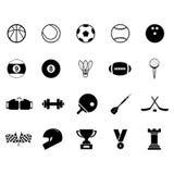 Grupo do ícone do esporte Foto de Stock