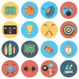 Grupo do ícone do esporte ilustração stock