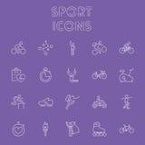 Grupo do ícone do esporte Fotos de Stock
