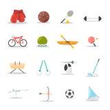 Grupo do ícone do esporte Foto de Stock Royalty Free