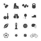 Grupo do ícone do esporte ilustração do vetor
