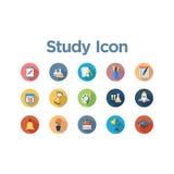Grupo do ícone do estudo Imagem de Stock