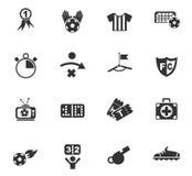 Grupo do ícone do futebol Imagem de Stock Royalty Free