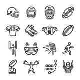 Grupo do ícone do futebol americano Vetor eps10 Imagem de Stock Royalty Free