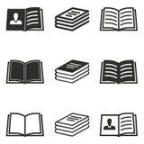 Grupo do ícone do livro Fotos de Stock