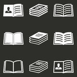 Grupo do ícone do livro Imagens de Stock Royalty Free