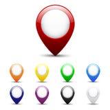 Grupo do ícone do mapa imagens de stock