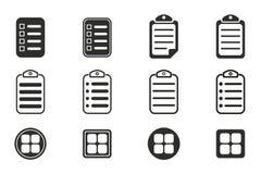 Grupo do ícone do menu Fotografia de Stock