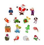 Grupo do ícone do Natal Imagem de Stock Royalty Free