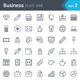Grupo do ícone do negócio Fotos de Stock