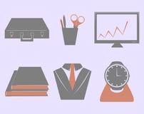 Grupo do ícone do negócio do vetor Imagens de Stock Royalty Free