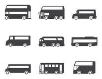 Grupo do ícone do ônibus Foto de Stock Royalty Free