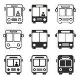 Grupo do ícone do ônibus Imagem de Stock