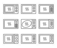 Grupo do ícone do oevn da micro-ondas Foto de Stock Royalty Free