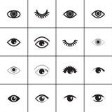 Grupo do ícone do olho Fotografia de Stock Royalty Free