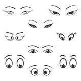 Grupo do ícone do olho Foto de Stock