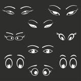 Grupo do ícone do olho Foto de Stock Royalty Free