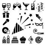 Grupo do ícone do partido e da celebração. ilustração do vetor