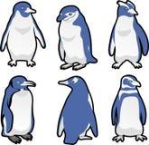 Grupo do ícone do pinguim Imagem de Stock Royalty Free