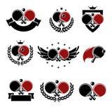 Grupo do ícone do pong do sibilo Vetor Imagem de Stock