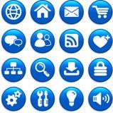 Grupo do ícone do projeto do Internet Imagens de Stock Royalty Free