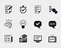 Grupo do ícone do questionário Fotos de Stock