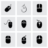 Grupo do ícone do rato do computador de vetor Fotografia de Stock
