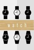 Grupo do ícone do relógio Fotos de Stock Royalty Free