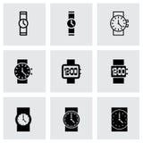 Grupo do ícone do relógio de pulso do vetor Imagem de Stock
