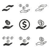 Grupo do ícone do salário Foto de Stock Royalty Free