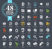 Grupo do ícone do seo da Web