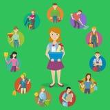 Grupo do ícone do serviço da limpeza Fotos de Stock