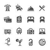 Grupo do ícone do serviço de hotel, vetor eps10 Imagem de Stock