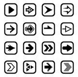Grupo do ícone do sinal da seta Imagem de Stock Royalty Free