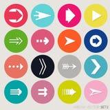 Grupo do ícone do sinal da seta. Foto de Stock