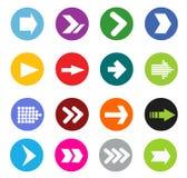 Grupo do ícone do sinal da seta Fotos de Stock