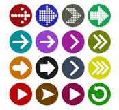 Grupo do ícone do sinal da seta Foto de Stock Royalty Free