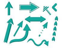 Grupo do ícone do sinal da seta Imagens de Stock