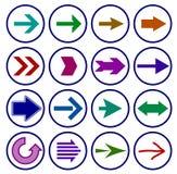 Grupo do ícone do sinal da seta Vetor Fotografia de Stock Royalty Free