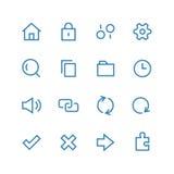 Grupo do ícone do sistema Fotos de Stock