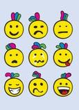 Grupo do ícone do sorriso Fotos de Stock