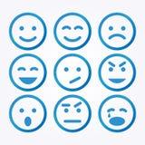 Grupo do ícone do sorriso Foto de Stock Royalty Free
