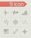 Grupo do ícone do soundwave da música do vetor Imagens de Stock