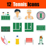 Grupo do ícone do tênis Imagem de Stock