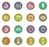 Grupo do ícone do tempo Foto de Stock Royalty Free